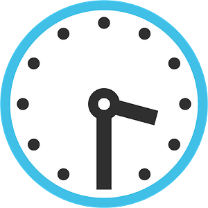 Three-thirty emoji clipart