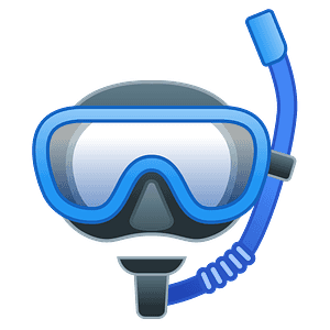 Diving mask emoji clipart