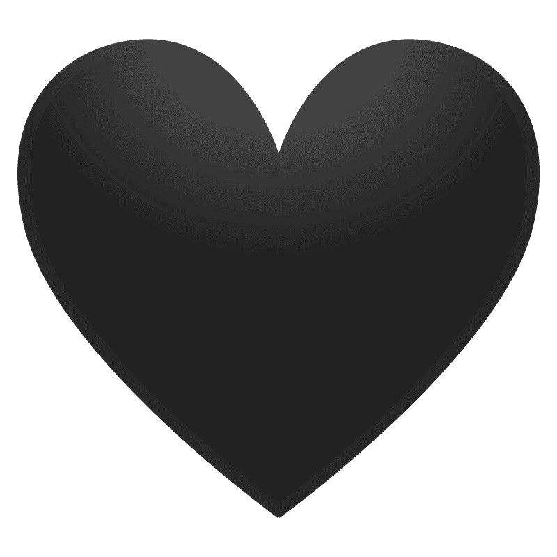Black heart emoji clipart. Free download transparent .PNG ...