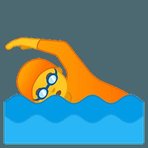 Person swimming emoji clipart