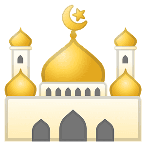Mosque emoji clipart