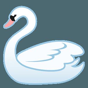 Swan emoji clipart