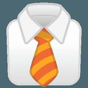 Necktie emoji clipart