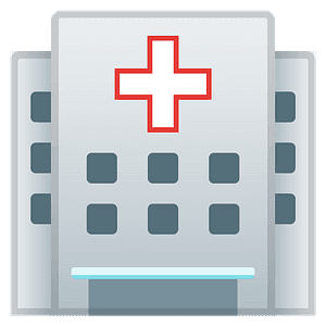 Hospital emoji clipart