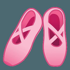 Ballet shoes emoji clipart