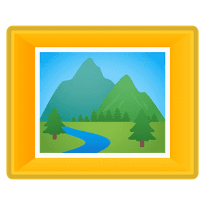 Framed picture emoji clipart