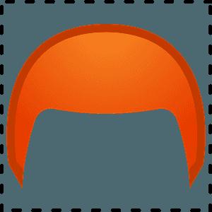 Red hair emoji clipart