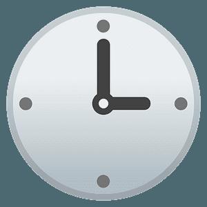 Three o'clock emoji clipart