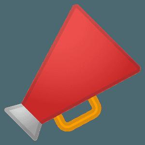 Megaphone emoji clipart