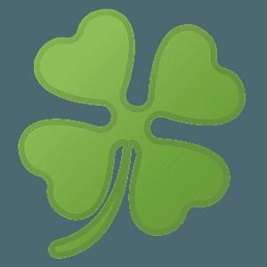 Four leaf clover emoji clipart