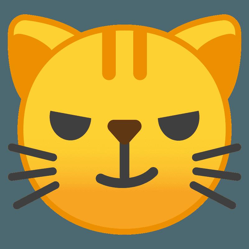 Chat Avec Sourire En Coin Image Clipart Telechargement Gratuit Creazilla