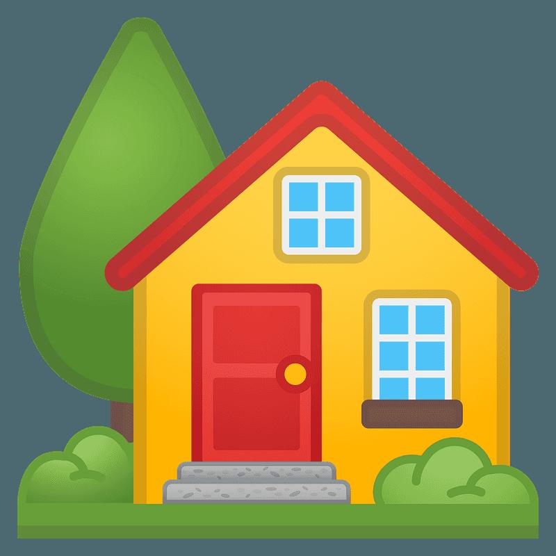 Huis met tuin clipart. Gratis download.   Creazilla
