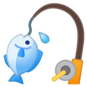 Fishing pole emoji clipart