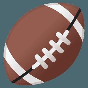 American football emoji clipart