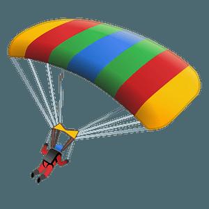 Parachute emoji clipart