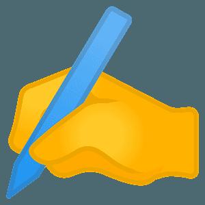 Writing hand emoji clipart