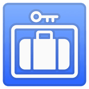 Left luggage emoji clipart