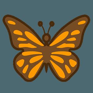 Butterfly emoji clipart