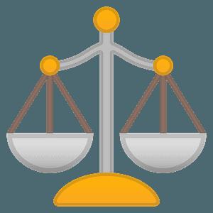 Balance scale emoji clipart