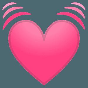 Beating heart emoji clipart