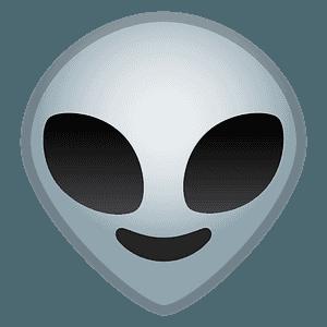 Alien emoji clipart
