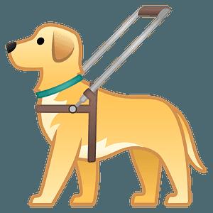 Guide dog emoji clipart
