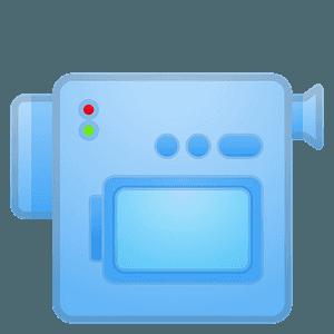 Video camera emoji clipart