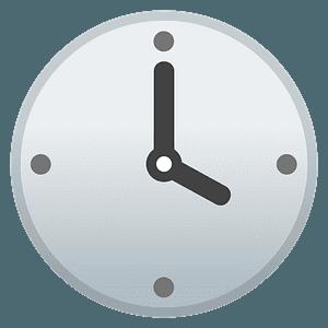 Four o'clock emoji clipart