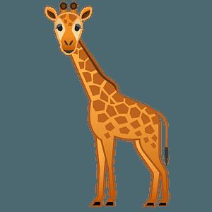 Giraffe emoji clipart