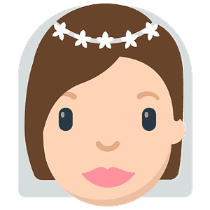 Person with veil emoji clipart