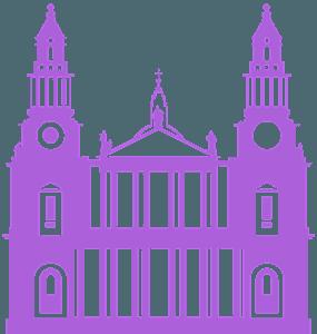 St Pauls katedral vektor silhuet