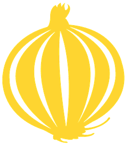 Silueta de Bulbo de Cebolla vector