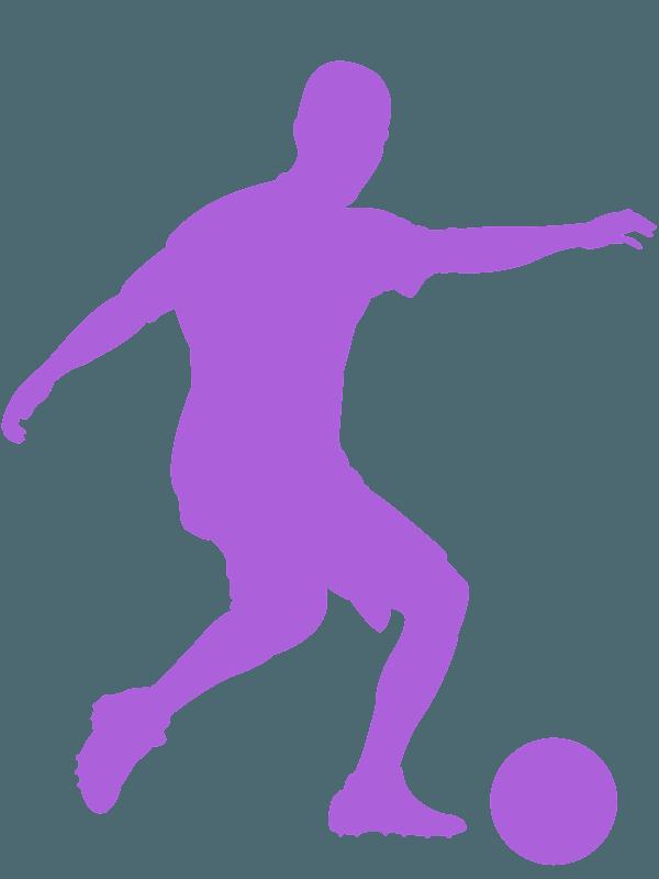 Fussballspieler Silhouette Kostenlose Vektor Silhouetten