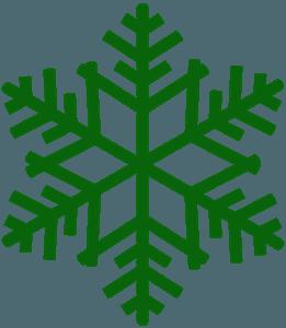 Silueta de Copo de Nieve vector