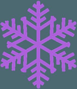 Płatek śniegu - sylwetka wektorowa