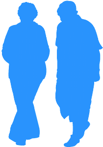 Seniorzy - sylwetka wektorowa