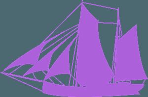 Парусник - Векторный Силуэт