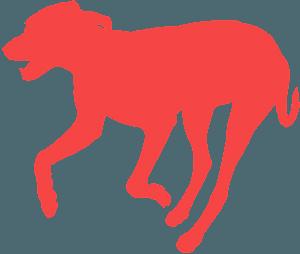 Løbende hund vektor silhuet