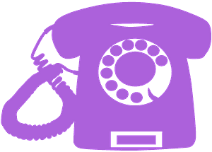 Rotary Dial Phone silhouette