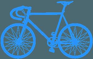 Strassenfahrrad vektor silhouette