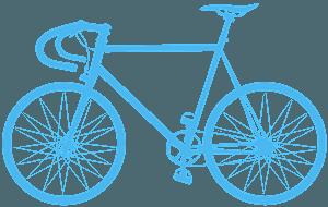 Шоссейный велосипед - Векторный Силуэт