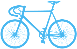 Silueta de Bicicleta de Carretera vector