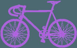 Landsvägscykel silhuett
