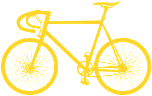 Vélo de route silhouette