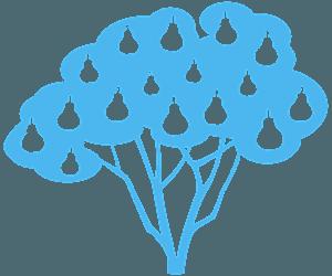 Pereira silhueta vetor