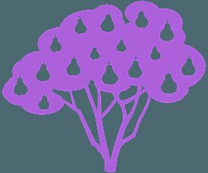 Grusza - sylwetka wektorowa