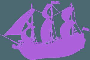 Piratskepp silhuett