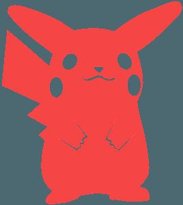 Silueta de Pikachu vector
