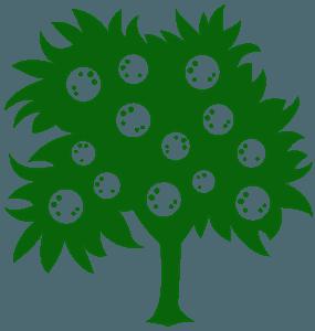 Апельсиновое дерево - Векторный Силуэт