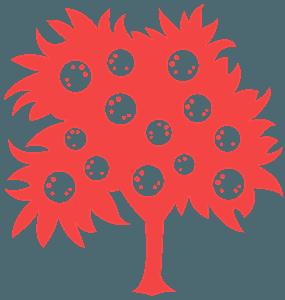 Laranjeira silhueta vetor